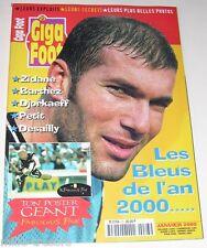 GIGA FOOT Numéro 23 - 2000 : ZIDANE - DJORKAEFF - PETIT  + Poster Fabien BARTHEZ