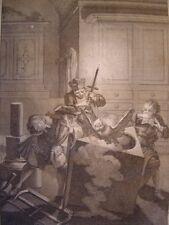 Estampe d'après Gillot gravée par Duflos pour le Lutrin 1713 Nicolas Boileau