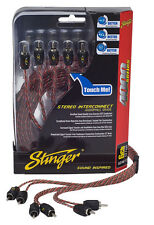 Stinger Pro 4000 Series Audiophile 17' 6 Channel RCA Interconnects Cable SI4617