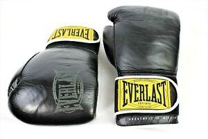 EVERLAST PRO STYLE Training Gloves Black 12oz Boxing UFC Heavy Bag Sparring Mitt