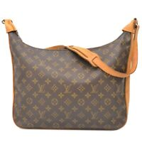 Louis Vuitton Bagatelle M51262 Monogram One Shoulder Hand Bag Purse Brown LV