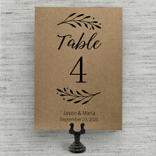 Rustic Wedding Table Numbers, Personalized and Double-Sided