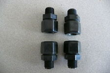 "One Lot Parker Fast & Tite Male Connector P8MC6, Black PPL, 1/2""Tube x 3/8""mnpt"