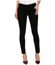 NEW Hudson Krista Ankle Super Skinny Black Denim Jean Raw Hem Jeans 26