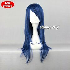 DOLLS Seijyu Shikkibu Dark Blue 60CM Long Hair Heat Resistant Anime Cosplay Wig
