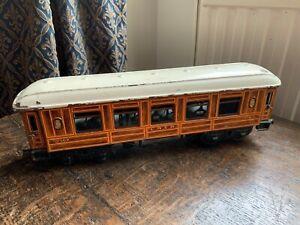 BING 1924 LNER FLIP TOP ROOF SALOON COACH FOR O GAUGE MODEL RAILWAY
