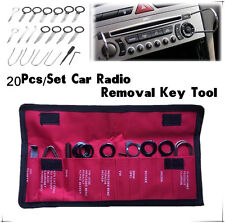 20PCS CAR RADIO REMOVAL KEY TOOL SET / KIT AUDIO TOOLS KEYS STEREO CD UNIVERSAL