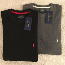 NEW POLO RALPH LAUREN Waffle Knit Thermal Sz M or L Long Sleeve Mens Blk or Gray