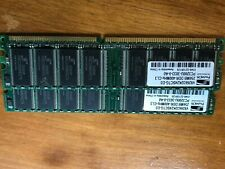 2x 256MB DDR-400MHZ-CL3 PC3200U-3033-0-A0 PROMOS TECHNOLOGIES DIMM Memory TWO