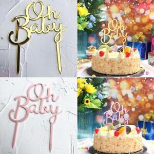 Cake Decor - Oh Baby - Cake Topper For Happy Birthday DIY Acrylic 2021 L0V1