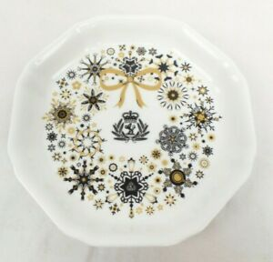 Cunard Wedgwood Small White Decorative Plate China with Original Packaging