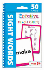 NEW 50 Sight Words Flash Cards Kindergarten 1st Grade Teaching Materials Ages 5+