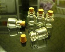 5 Miniature Cork Glass Bottle Empty Candy Food Jars 1:12 Dollhouse Kitchen Decor