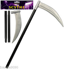 HALLOWEEN FANCY DRESS GRIM REAPER GHOUL COSTUME PLASTIC SCYTHE ACCESSORY PROP BN
