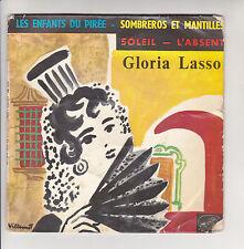 Gloria LASSO 45T EP ENFANTS PIREE - SOMBREROS MANTILLES Pourcel VOIX MAITRE 488