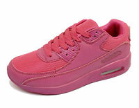 WOMENS PINK LACE-UP RUNNING TRAINERS SPORTS PUMPS PLIMSOLLS CASUAL SHOES UK 3-8