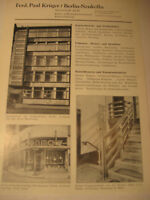 Berlin Firma:Ferd.Paul Krüger,Eisen Werbeblatt 1944/48.Advertising 1944 Berlin