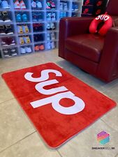 Sup Red Floor Mat (Extra Large), Hype Sneaker Rug, Sup Design, Large Doormat