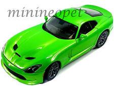 MAISTO 31128 2013 13 DODGE VIPER GTS 1/18 DIECAST MODEL CAR GREEN