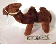 Rare Vtg Plush Wool Bactrian Camel Stuffed Endangered Animal Red Eyes