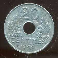 20 CENTIMES zinc  1944  ( 1 )