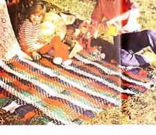 QUICK TARTAN RUG / AFGHAN blanket  - COPY vintage crochet pattern