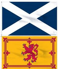 3X5 SCOTLAND FLAG Combo Lot ST ANDREW Cross + Scotland Lion Rampart 2 Flags