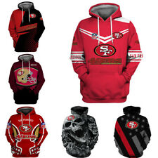 San Francisco 49ers Hoodie Football Pullover Sweatshirt Hooded Jacket Fan's Gift
