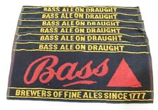 More details for 6 x vintage draught bass ale beer advertising towels mats rags breweriana -250