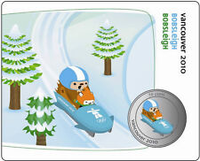 50 Cent Canada Vancouver 2010 Olympic Mascot Quatchi Miga Coin Bobsleigh 5/12