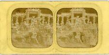 PHOTO vue stéréo panoptique Diable diableries CA 1880 L.B