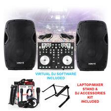 "AP1200A Active DJ PA 12"" Speaker, MIDI Controller, Mixer Stand & Microphone Set"