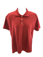 adidas Men's Red Climacool Short Sleeve Breathable Back Golf Polo Sz M