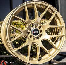 XXR 530 17X8.25 Rims 5x100/114.3 +25 Gold Wheels Fits Civic Mazda 3 6 TC 2010+