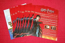 """Harry Potter Brand News Flyers for Fall, 2005 - Lot of Ten 8.5"""" x 11"""" Fliers"""