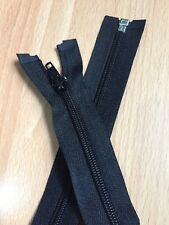 "Black, 21"" Open End Zip Twenty One Inch"