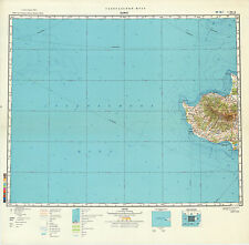 Russian Soviet Military Topographic Maps - PAPHOS (Cyprus), 1:500 000, ed. 1981