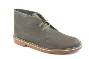 Clarks Men's Bushacre 2 Olive Oily Leather Chukka Boot Size 11 M