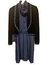New listing Vintage Victor Costa High neck blue polka dot dress with black jacket Size 12
