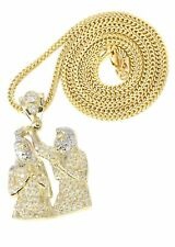 10K Yellow Gold Franco Chain & Cz Jesus Piece Chain | Appx. 15.3 Grams
