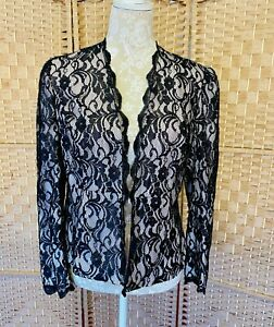 Gina Bacconi Black Pink Lace Special Occasion Jacket Special Occasion UK Sze 12