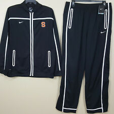 NIKE DRI-FIT BASKETBALL SUIT SYRACYSE JACKET + PANTS BLACK RARE (SIZE XL / XLT)