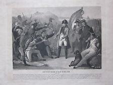 1835ca RETOUR DE L'ILE D'ELBE acquatinta Legrand Dubreuil Cento giorni Napoleone