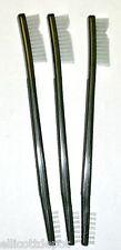 """THREE (3) USGI RIFLE CLEANING """"TOOTH"""" BRUSHES -shotgun pistol gun jewelry tool"""