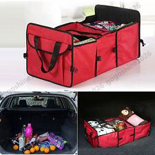 Foldable Multi Bag Collapsible Organizer Box Storage Car Cargo Trunk RED Set GW