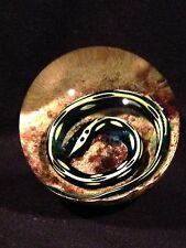 William Manson Scotland Art Glass Snake Paperweight