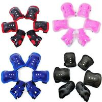 Kids Teens Elbow Knee Wrist Protective Guard Safety Gear Pads Skate Bicycle lskn