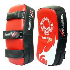 TurnerMax Curved Thai Pad Kick Boxing Strike Pad Punching Shield Leather Single