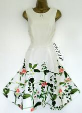 Ted Baker Dress TB 2 (UK 10) Immaculate Karolie Pink Green Ivory Fit&Flare Lined
