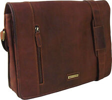 "UNICORN Real Leather 16.4"" laptop bag Netbook Ultrabook Messenger Sandle #4K"